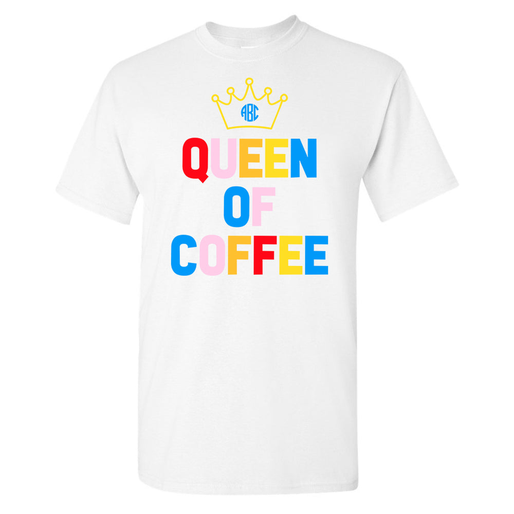 Monogrammed Queen Of Coffee Premium T-Shirt