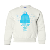 Monogrammed Kids Youth Winter Hair Don't Care Crewneck Sweatshirt