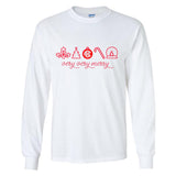 Monogrammed Christmas Very Very Merry Long Sleeve Shirt