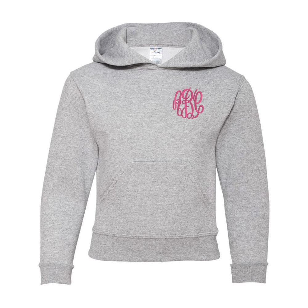Kids Monogrammed Hoodie Hooded Sweatshirt Youth Sizes