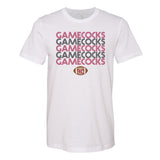 Monogrammed Retro Carolina Gamecocks Football Tee