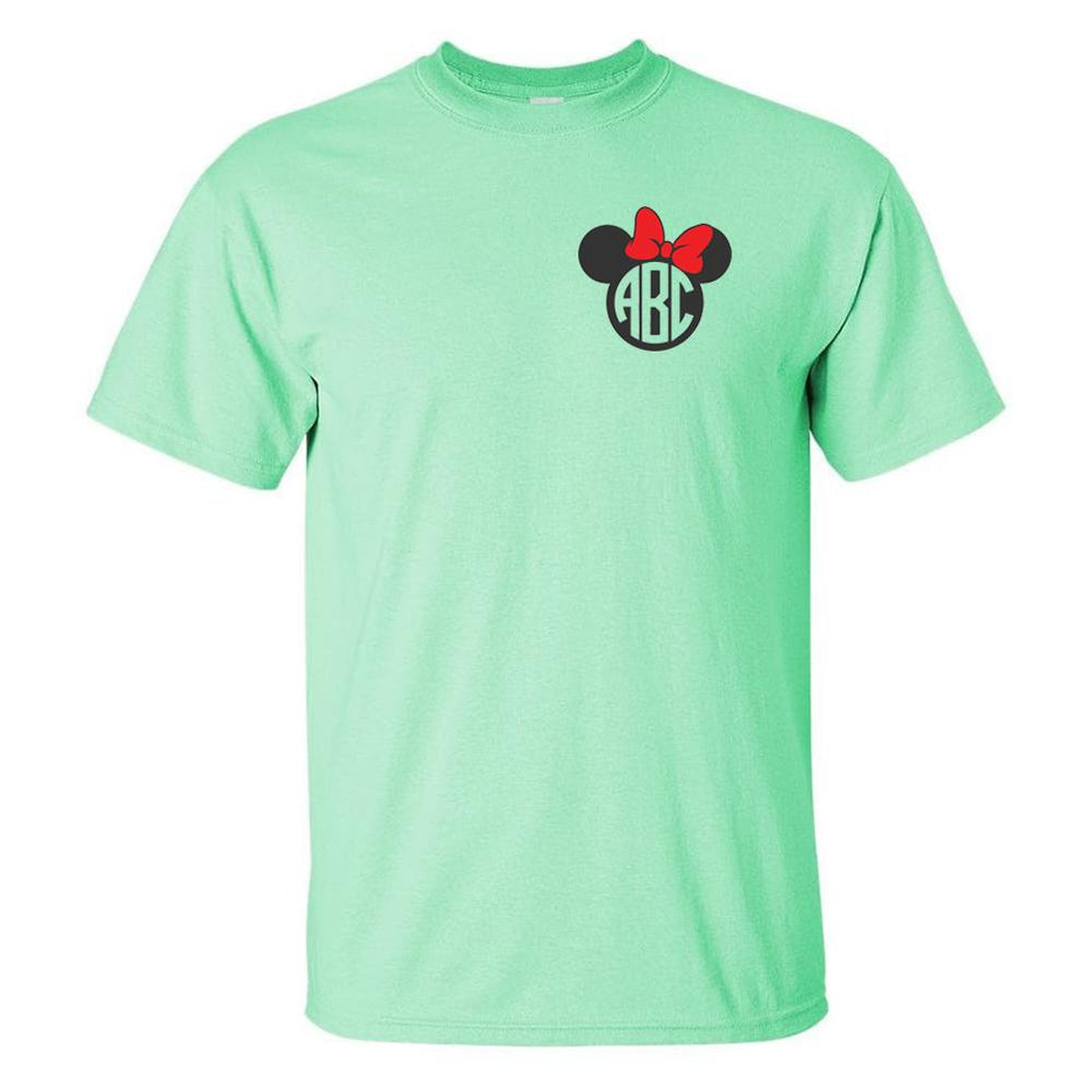 Monogrammed 'Minnie Mouse' Basic T-Shirt