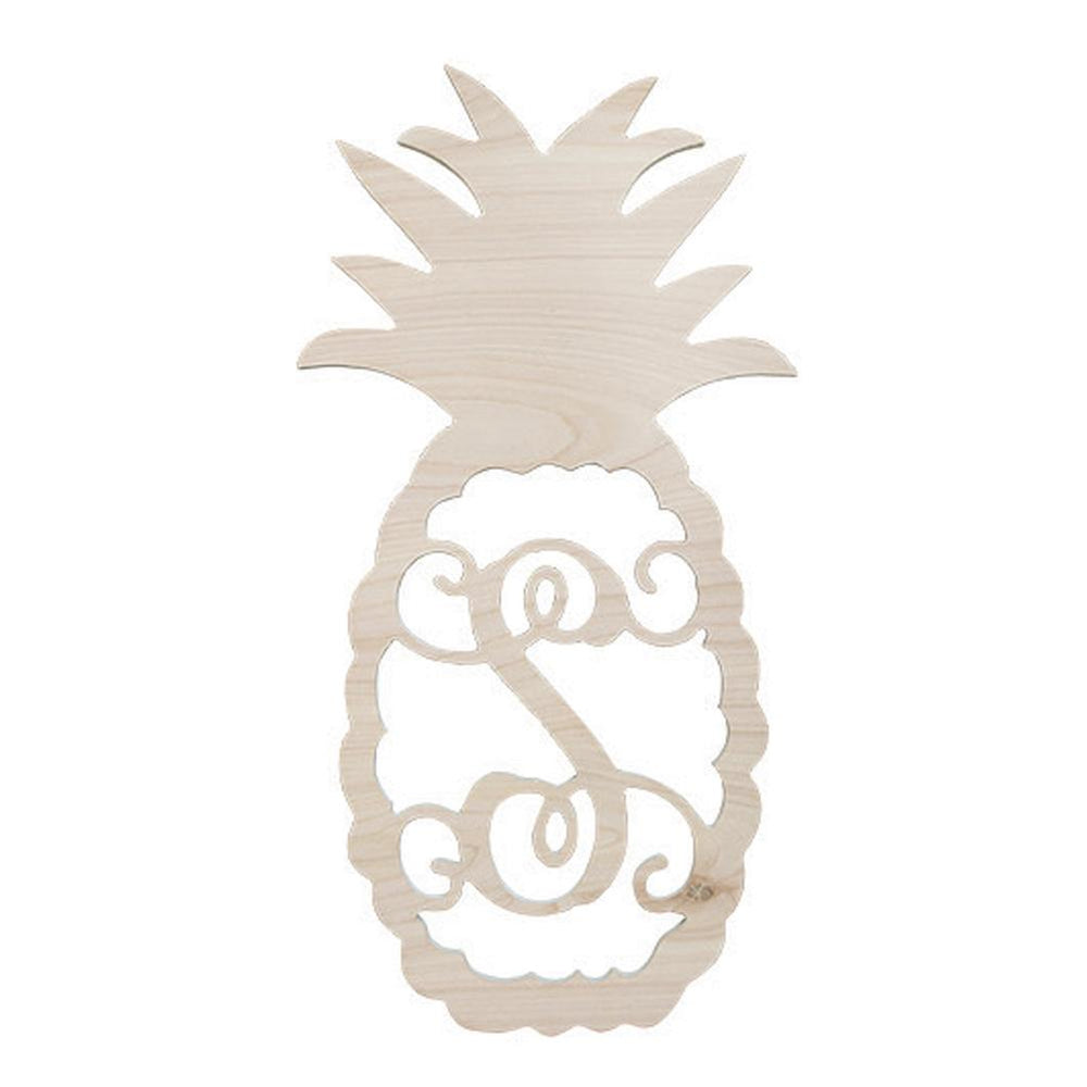 Monogrammed Pineapple Wooden Monogram