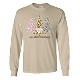 Monogrammed Leopard Wild About Christmas Long Sleeve Shirt