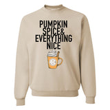 Monogrammed Pumpkin Spice & Everything Nice Crewneck Sweatshirt