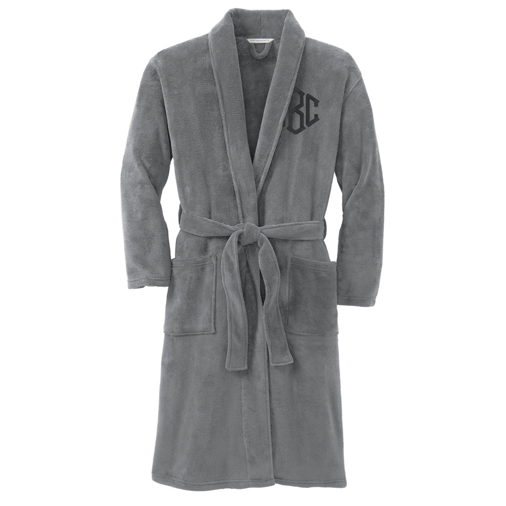 Monogrammed Plush Microfleece Bath Shower Robe