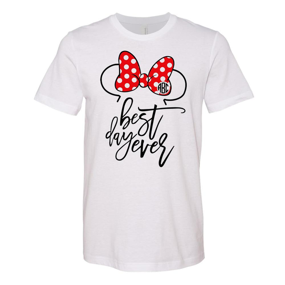 Monogrammed Disney Minnie Mouse Best Day Ever Tee