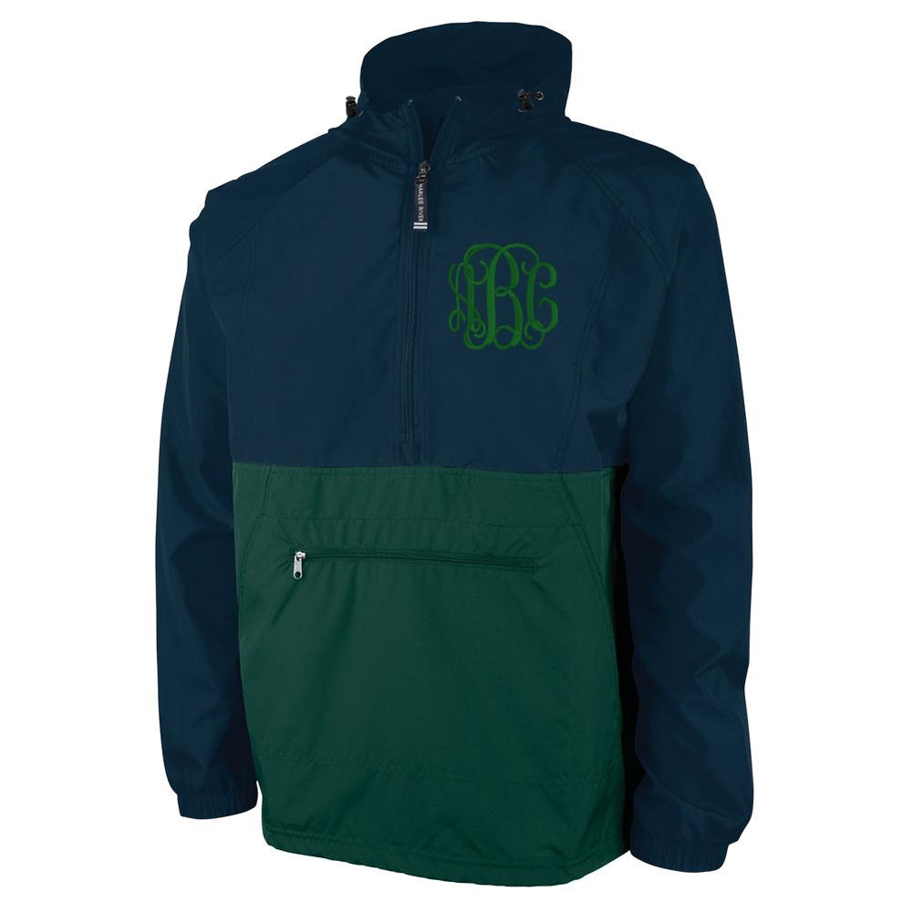 Monogrammed Color Block Rain Jacket