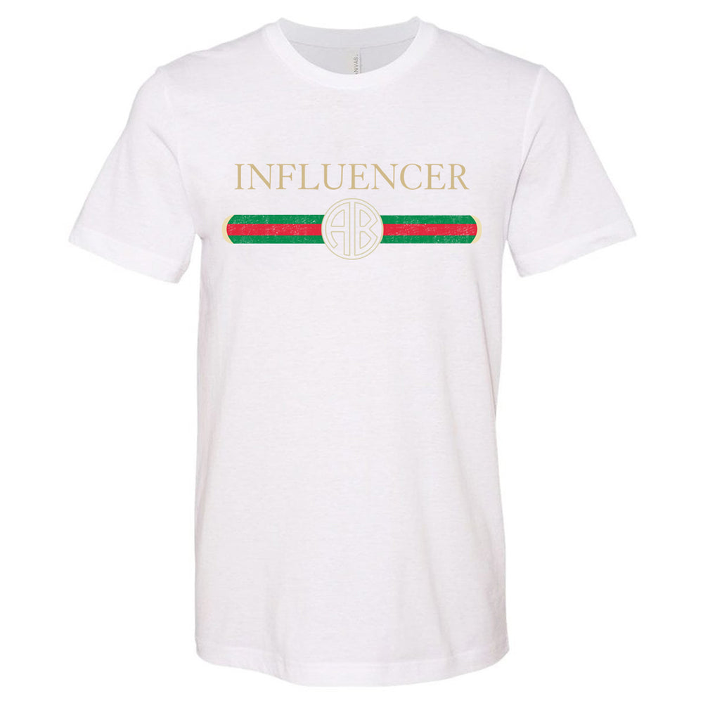 Monogrammed Gucci Inspired Influencer Tee