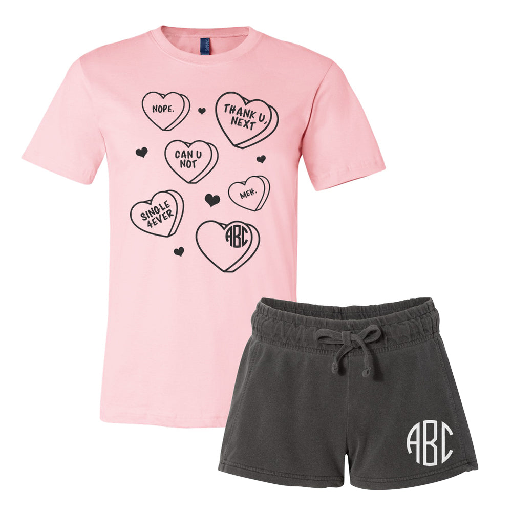 Monogrammed Single Anti-Valentine's Day Lounge Set