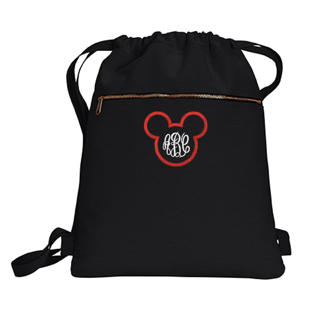 Monogrammed Disney Mickey Mouse Cinched Backpack Bag