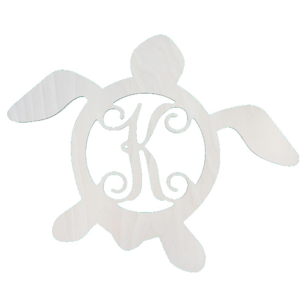 Monogrammed Turtle Wooden Monogram Beach House