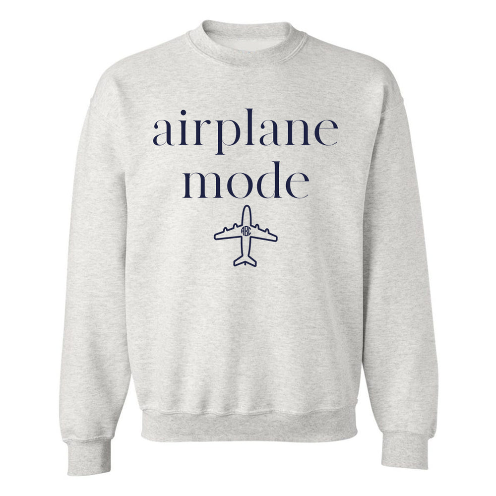 Monogrammed Airplane Mode Sweatshirt