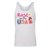 Monogrammed Rose In The USA Tank Top Fourth of July