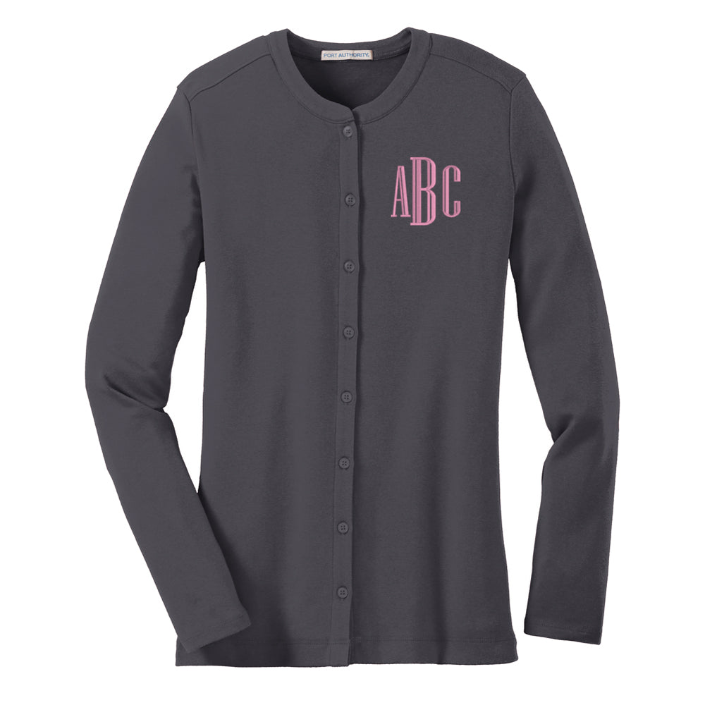 3242cfe92bb Monogrammed Buttoned Cardigan – United Monograms