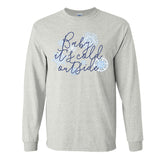 Monogrammed Snowflake Baby It's Cold Outside Long Sleeve Shirt