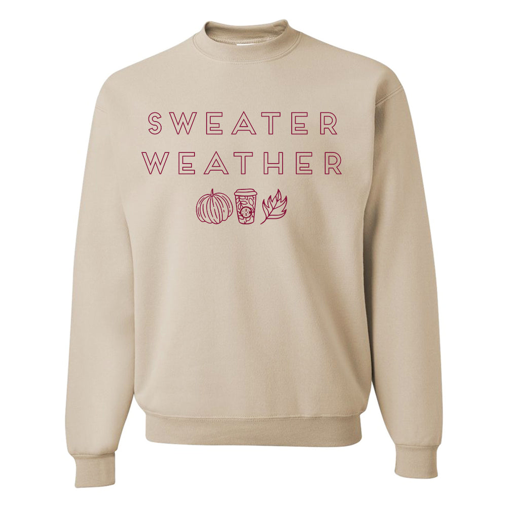 Monogrammed Fall Sweater Weather Sweatshirt