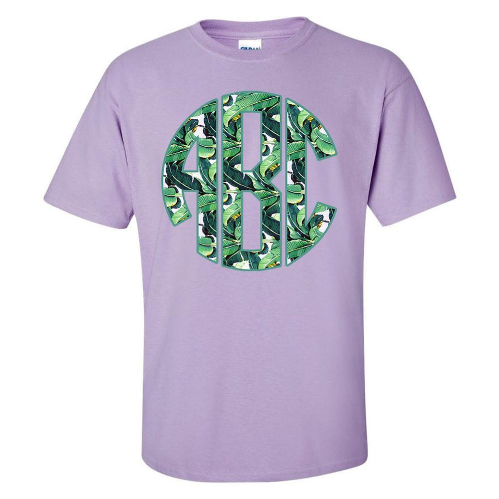 Purple T-Shirt with Big Print Monogram