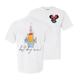 Monogrammed Disney Best Day Ever Front & Back T-Shirt