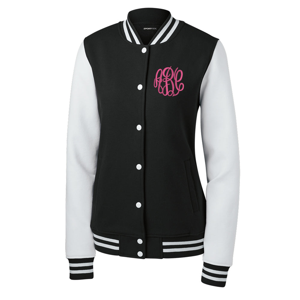 Monogrammed Fleece Letterman Jacket