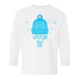 Monogrammed Winter Hair, Don't Care Kids Youth Long Sleeve Shirt