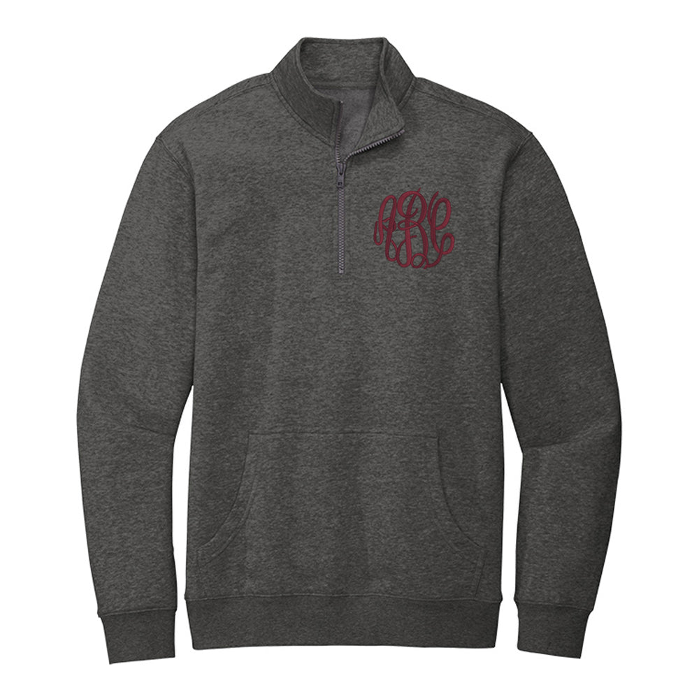 Monogrammed Front Pocket Quarter Zip