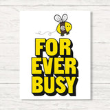Monogrammed Forever Busy Wall Art Canvas Office