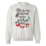Monogrammed This Is My Christmas Movie Watching Shirt Sweatshirt