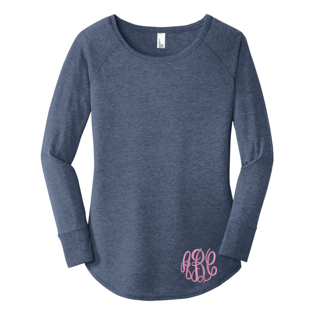 Monogrammed Long Sleeve Tunic