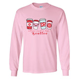 Pink & Red Coffee themed monogram shirt