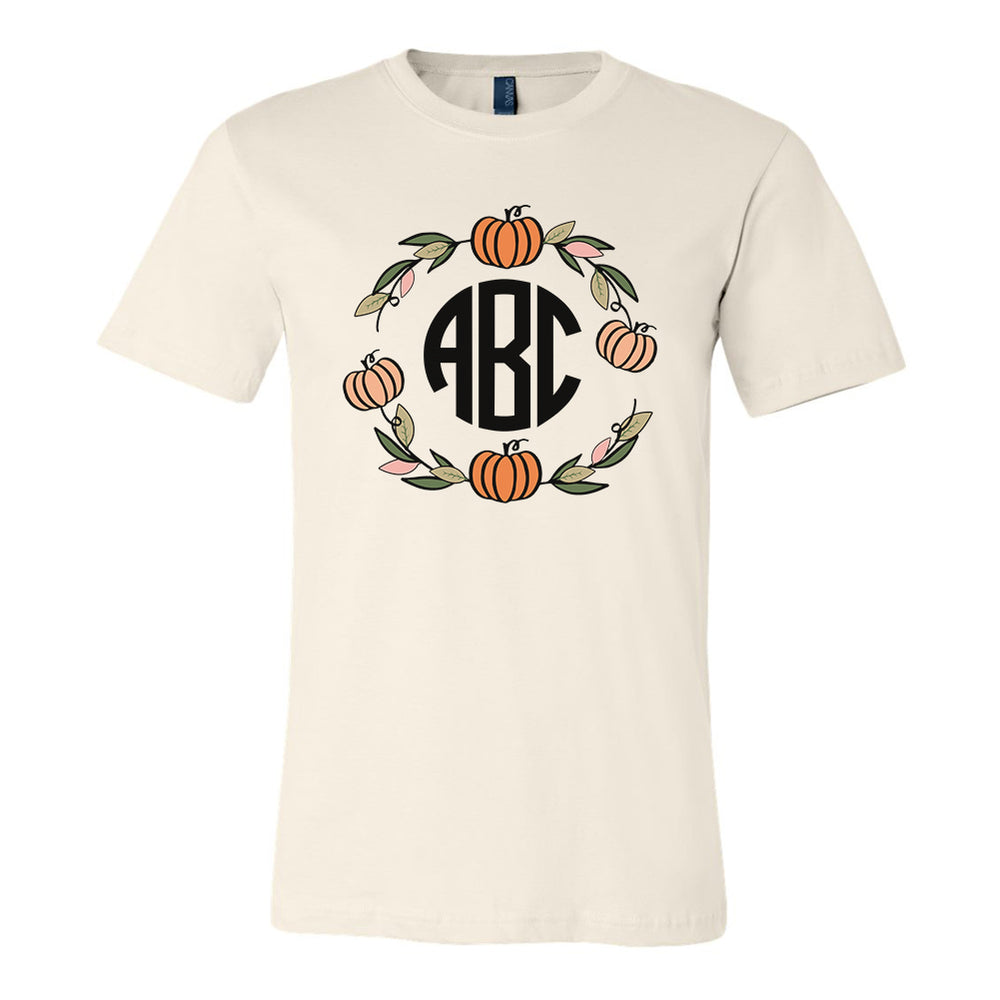 Monogrammed Pumpkin Wreath Tee