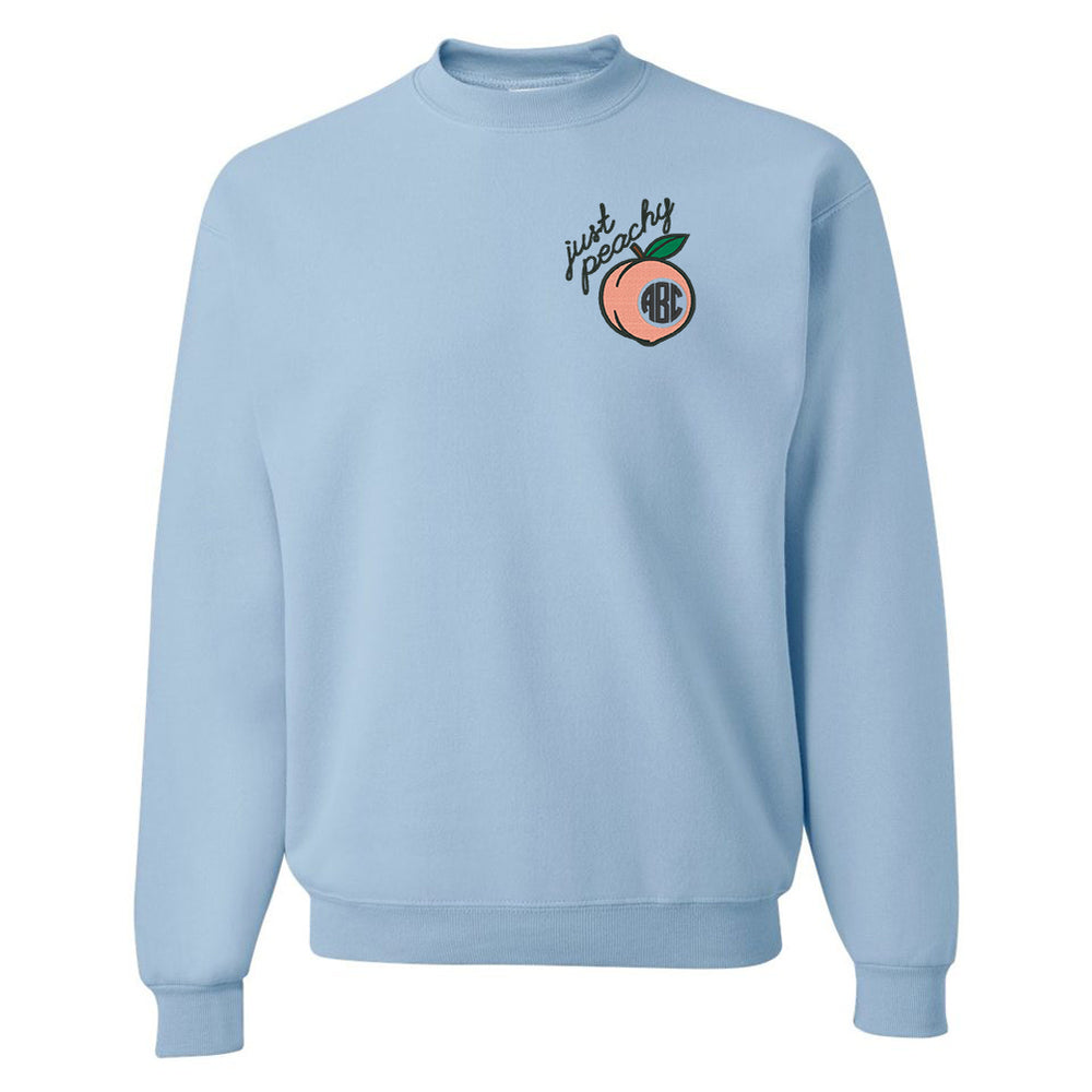 Monogrammed 'Just Peachy' Crewneck Sweatshirt