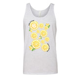 Ash Grey SUmmer Lemon Grpahic Monogram Tank Top