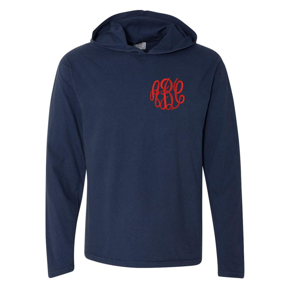 Monogrammed Comfort Long Sleeve Hooded Shirt