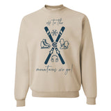 Monogrammed Skiing Off To The Mountains We Go Sweatshirt
