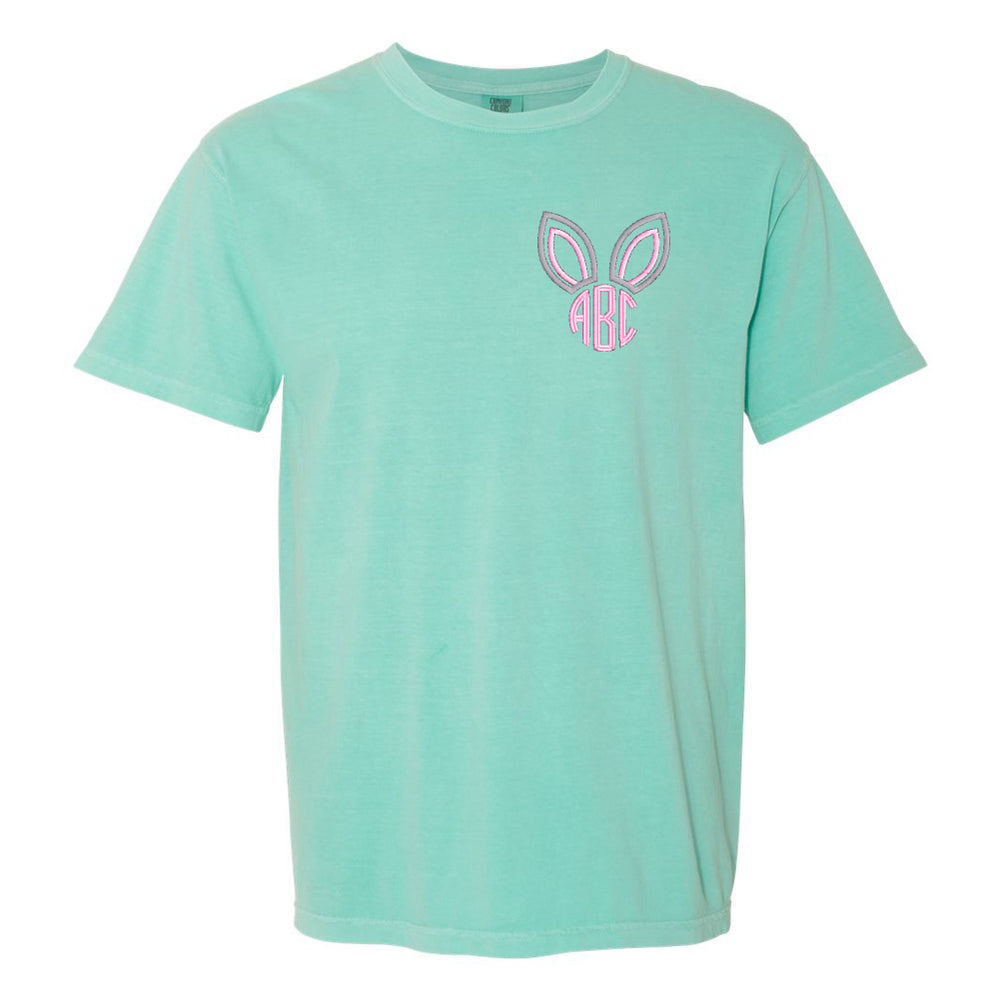 Monogrammed Embroidered Easter Bunny Ears T-Shirt
