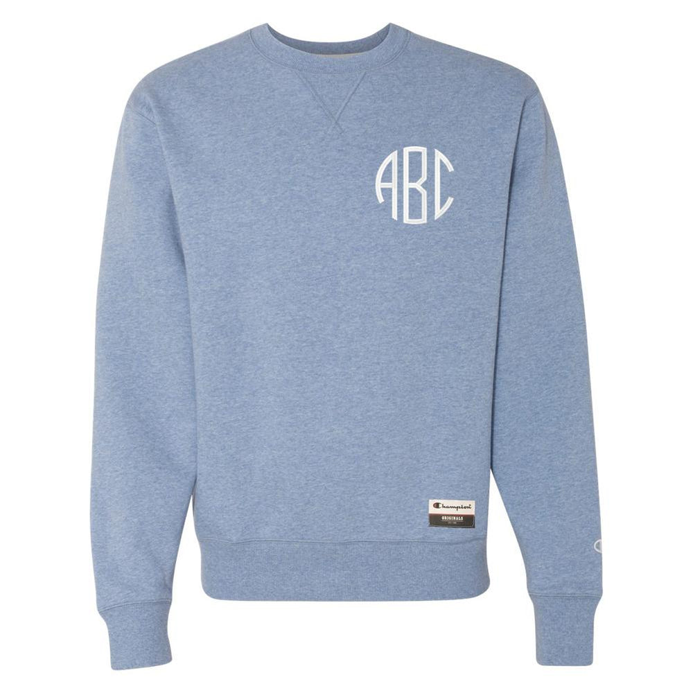 Monogrammed Sueded Fleece Crewneck Sweatshirt