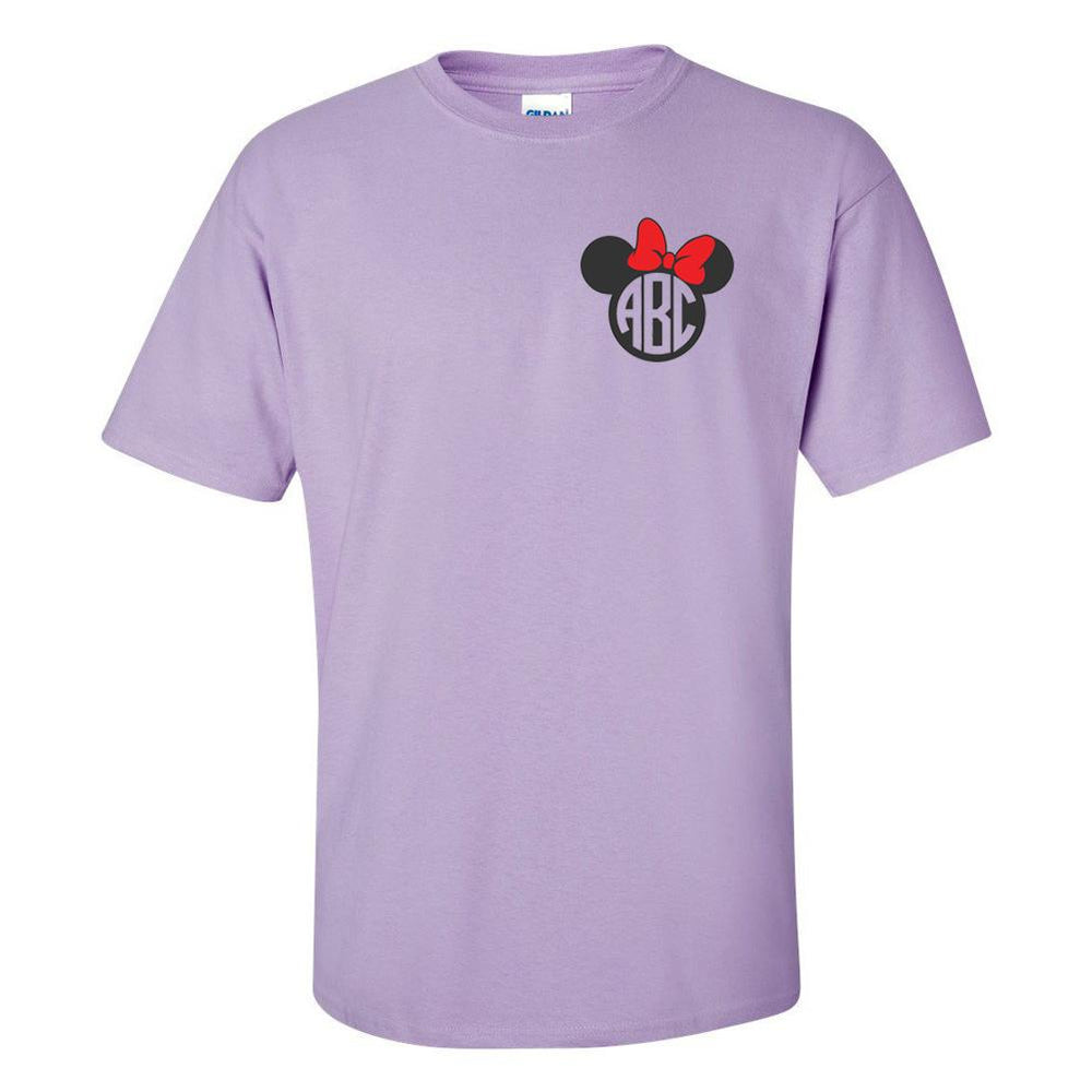 Monogrammed 'Minnie Mouse' T-Shirt