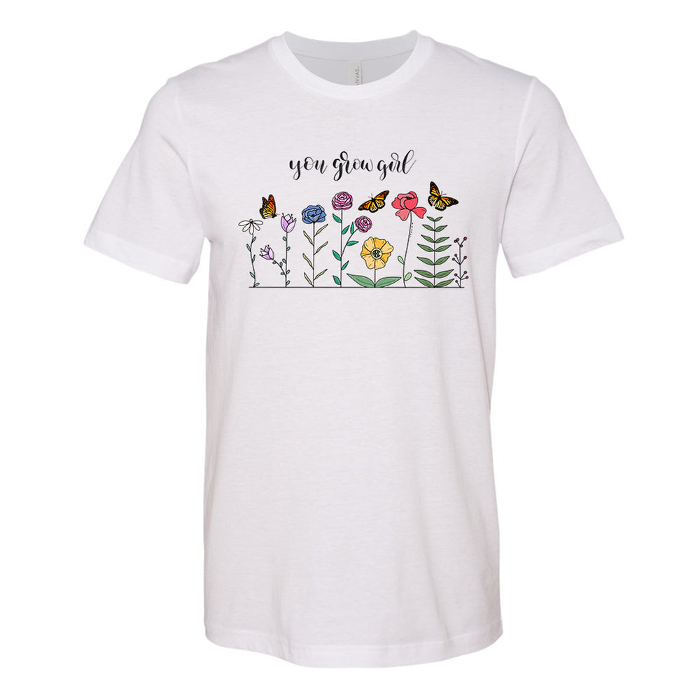 Monogrammed You Grow Girl Tee