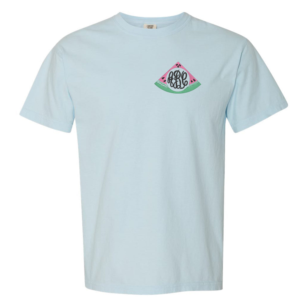 Watermelon Monogram Comfort Colors TShirt