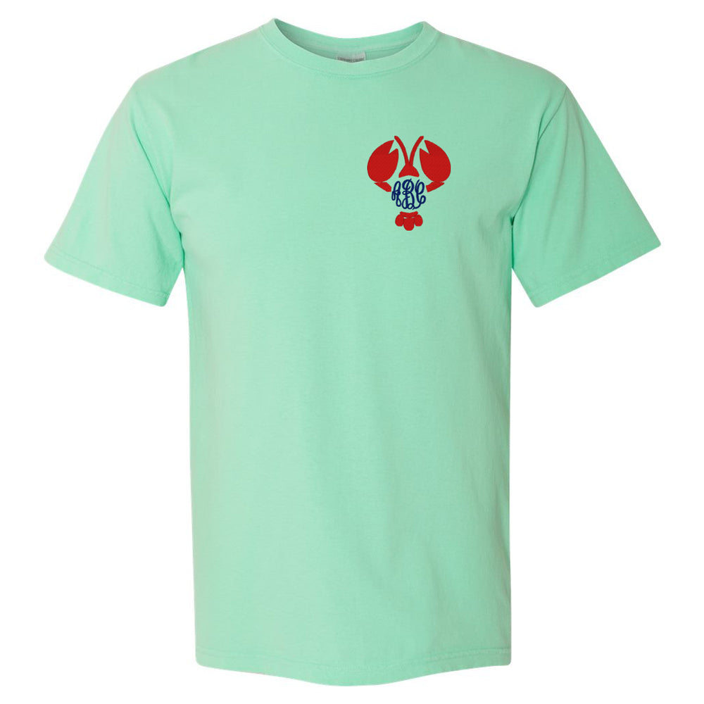 Island Reed Comfort Colors T-Shirt with Lobster Monogram