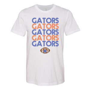 Monogrammed Retro Florida Gators Football Tee