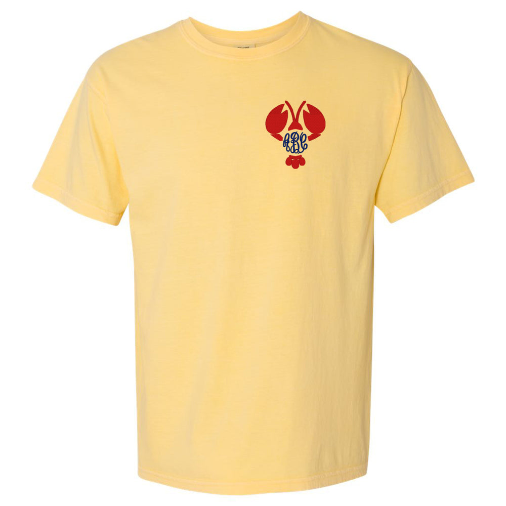 Comfort Colors T-Shirt Butter Yellow with Summer Monogram