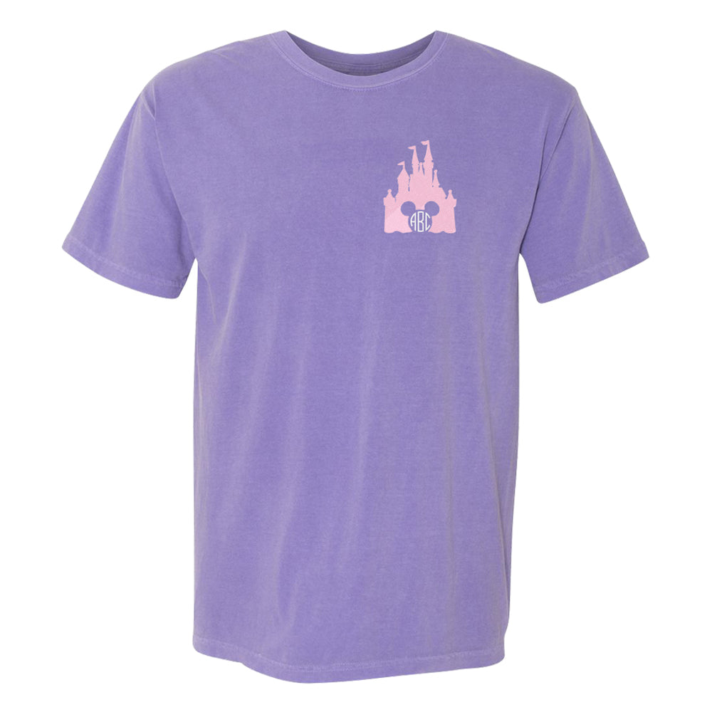 Monogrammed Embroidered Disney Castle Mickey Tee
