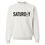 Monogrammed Champagne Saturday Crewneck Sweatshirt