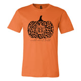 Monogrammed Leopard Wild About Fall Tee