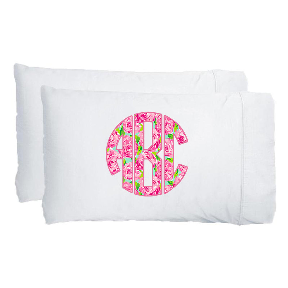 Monogrammed Lilly Big Print Pillowcase Set