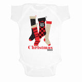 Monogrammed Infant Onesie Christmas Stockings