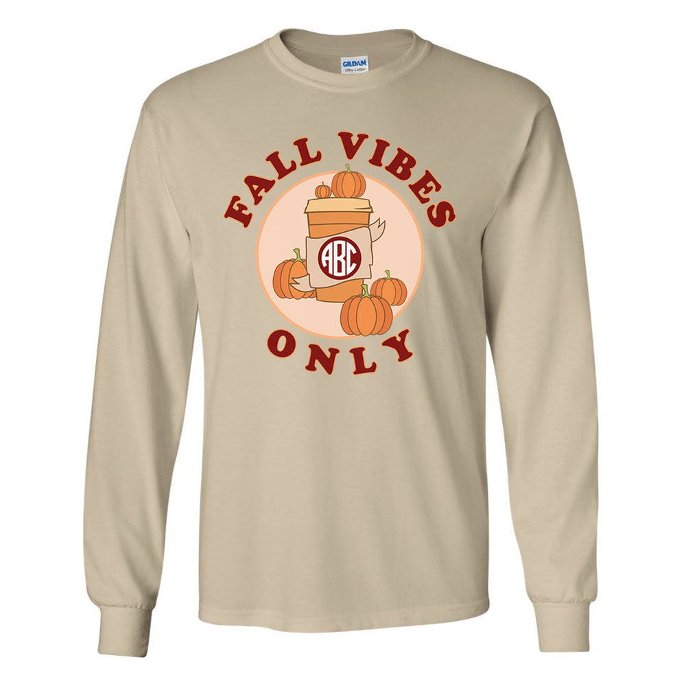 Monogrammed Fall Vibes Only Long Sleeve Shirt