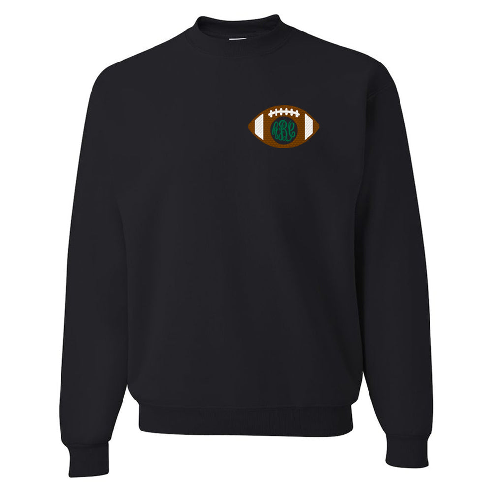Monogrammed Football Crewneck Sweatshirt